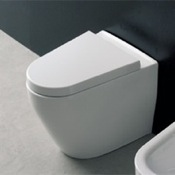 Toilet Modern White Ceramic Floor Toilet Scarabeo 8048/A