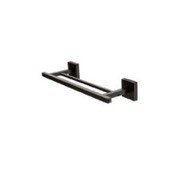Towel Bar 12 Inch Square Double Towel Bar in Black StilHaus U06.2-23