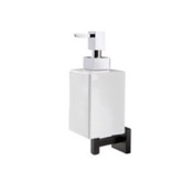 Soap Dispenser Black Wall Mounted Square White Ceramic Soap Dispenser StilHaus U30-23