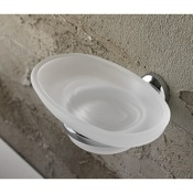 Soap Dish Wall Mounted Oval Frosted Glass Soap Dish Toscanaluce 1501