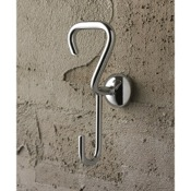 Bathroom Hook Polished Chrome Double Robe Hook Toscanaluce 1514
