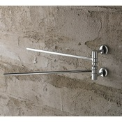 Swivel Towel Bar 12 Inch Polished Chrome Double Arm Swivel Towel Bar Toscanaluce 1519