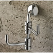 Bathroom Hook Polished Chrome Double Robe Hook Toscanaluce 1524