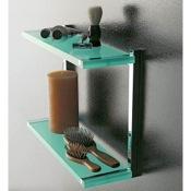 Bathroom Shelf Square Plexiglass Double Bathroom Shelf Toscanaluce 4542