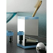 Toothbrush Holder Square Brass and Plexiglass Tumbler Toscanaluce 4562