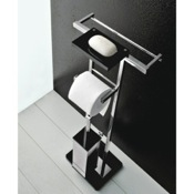 Bathroom Butler Free Standing 4-Funtcion Bathroom Butler with Plexiglass Base Toscanaluce 4575
