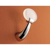 Bathroom Hook Round Brass and Plexiglass Robe Hook Toscanaluce 5524