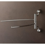 Swivel Towel Bar Chrome Double Swivel Towel Bar with Two Wall Mounts Toscanaluce 9019 BIS