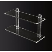 Bathroom Shelf 12 Inch Double Tier Plexiglass Bathroom Shelf Toscanaluce L000/40