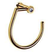 Towel Ring Gold Towel Ring With 7 Inch Width and White Crystal Windisch 85514OB