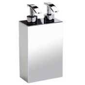 Soap Dispenser Squared Chrome,Gold, or Satin Nickel Soap Dispenser with Two Pump(s) Windisch 90104