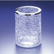 Toothbrush Holder Round Crackled Glass Toothbrush Holder Windisch 91126