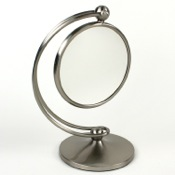Makeup Mirror Contemporary Brass Magnifying Mirror Windisch 99127D