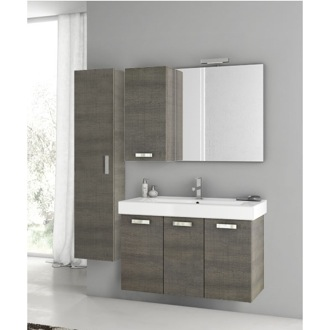 Bathroom Vanity 39 Inch Grey Oak Bathroom Vanity Set ACF C129