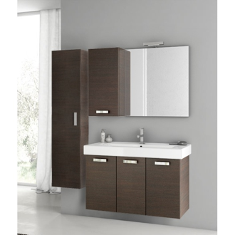 Bathroom Vanity 39 Inch Wenge Bathroom Vanity Set ACF C131