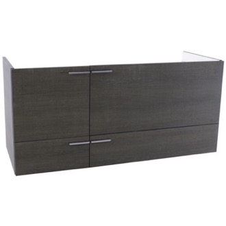 Vanity Cabinet 47 Inch Wall Mount Grey Oak Double Bathroom Vanity Cabinet ACF L412GO
