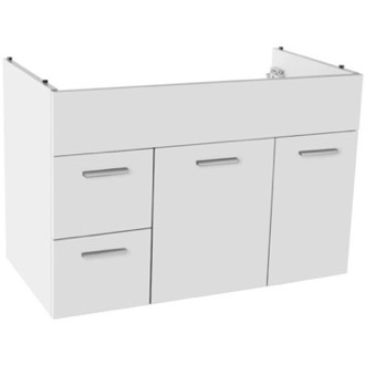 Vanity Cabinet 33 Inch Wall Mount Glossy White Bathroom Vanity Cabinet ACF L585GW