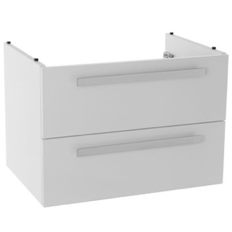 Vanity Cabinet 25 Inch Wall Mount Glossy White Bathroom Vanity Cabinet ACF L816W
