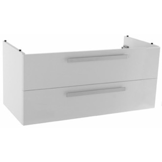 Vanity Cabinet 38 Inch Wall Mount Glossy White Bathroom Vanity Cabinet ACF L819W