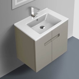 Bathroom Vanity 24 Inch Vanity Cabinet With Fitted Sink ACF NY24