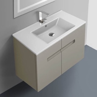 Bathroom Vanity 32 Inch Vanity Cabinet With Fitted Sink ACF NY32-Matte Canapa