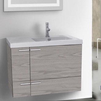 Bathroom Vanity 31 Inch Bathroom 2 Piece Vanity Set ACF ANS20-Grey Walnut