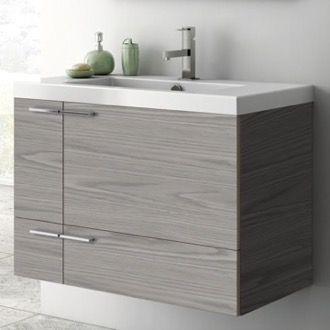 Bathroom Vanity 31 Inch Vanity Cabinet With Fitted Sink ACF ANS31-Grey Walnut