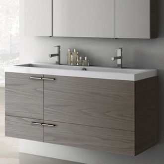 Bathroom Vanity 47 Inch Vanity Cabinet With Fitted Sink ACF ANS39-Grey Walnut