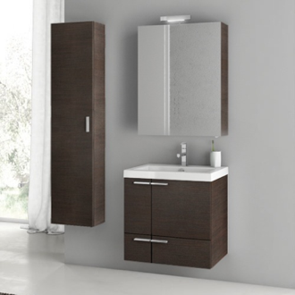 Bathroom Vanity 23 Inch Bathroom Vanity Set ACF ANS27-Wenge