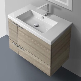 Bathroom Vanity 31 Inch Vanity Cabinet With Fitted Sink ACF ANS31-Larch Canapa