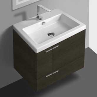 Bathroom Vanity 23 Inch Vanity Cabinet With Fitted Sink ACF ANS32-Grey Oak