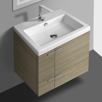 Bathroom Vanity 23 Inch Vanity Cabinet With Fitted Sink ACF ANS32-Larch Canapa