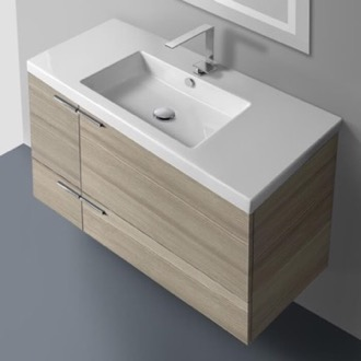 Bathroom Vanity 39 Inch Vanity Cabinet With Fitted Sink ACF ANS34-Larch Canapa