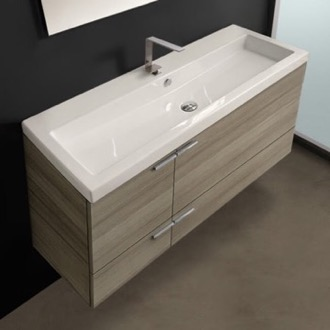 Bathroom Vanity 47 Inch Larch Canapa Bathroom Vanity Set, Large Basin Sink ACF ANS371