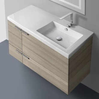 Bathroom Vanity 39 Inch Vanity Cabinet With Fitted Sink ACF ANS45