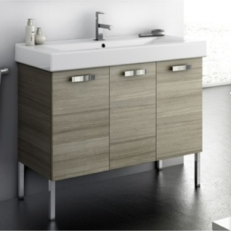 Bathroom Vanity 39 Inch Vanity Cabinet With Fitted Sink ACF C16