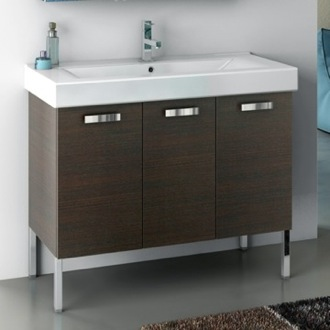 Bathroom Vanity 39 Inch Vanity Cabinet With Fitted Sink ACF C16-Wenge