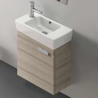 Bathroom Vanity 18 Inch Vanity Cabinet With Fitted Sink ACF C13