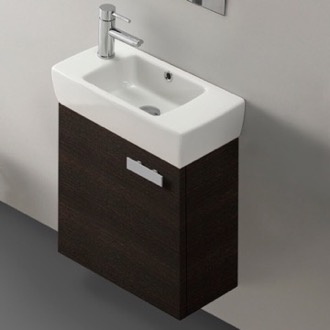 Bathroom Vanity 18 Inch Vanity Cabinet With Fitted Sink ACF C13-Wenge