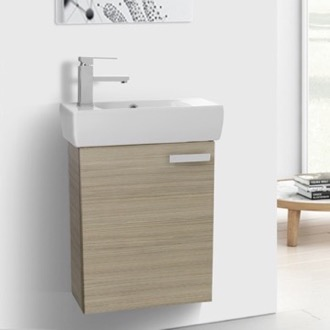 Bathroom Vanity 18 Inch Vanity Cabinet With Fitted Sink ACF C13-Larch Canapa