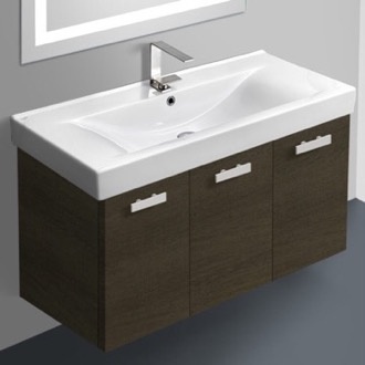 Bathroom Vanity 39 Inch Vanity Cabinet With Fitted Sink ACF C19-Grey Oak