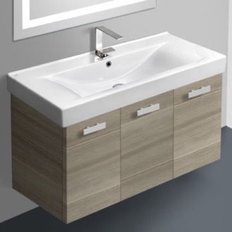 Bathroom Vanity 39 Inch Vanity Cabinet With Fitted Sink ACF C19-Larch Canapa
