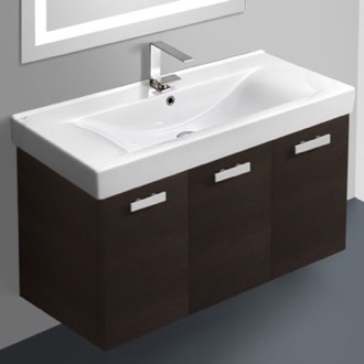 Bathroom Vanity 39 Inch Vanity Cabinet With Fitted Sink ACF C19-Wenge