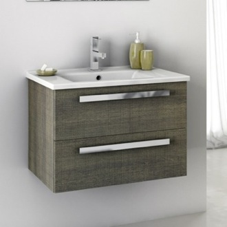 Bathroom Vanity 24 Inch Vanity Cabinet With Fitted Sink ACF DA04