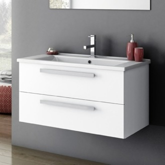Bathroom Vanity 33 Inch Vanity Cabinet With Fitted Sink ACF DA05