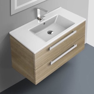 Bathroom Vanity 33 Inch Vanity Cabinet With Fitted Sink ACF DA05-Style Oak