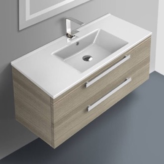 Bathroom Vanity 38 Inch Vanity Cabinet With Fitted Sink ACF DA06-Larch Canapa