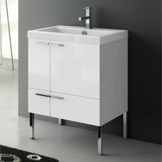Bathroom Vanity 23 Inch Vanity Cabinet With Fitted Sink ACF ANS30