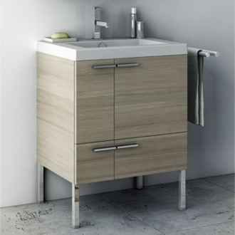 Bathroom Vanity 23 Inch Vanity Cabinet With Fitted Sink ACF ANS30-Larch Canapa