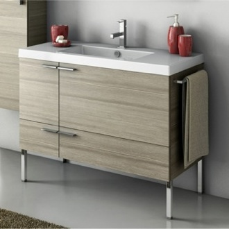 Bathroom Vanity 39 Inch Vanity Cabinet With Fitted Sink ACF ANS33-Larch Canapa